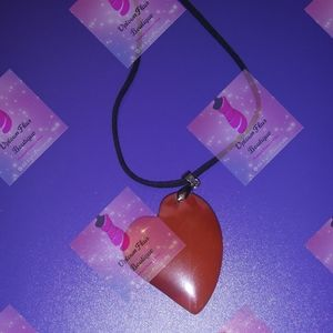 Stone heart Pendant Necklace